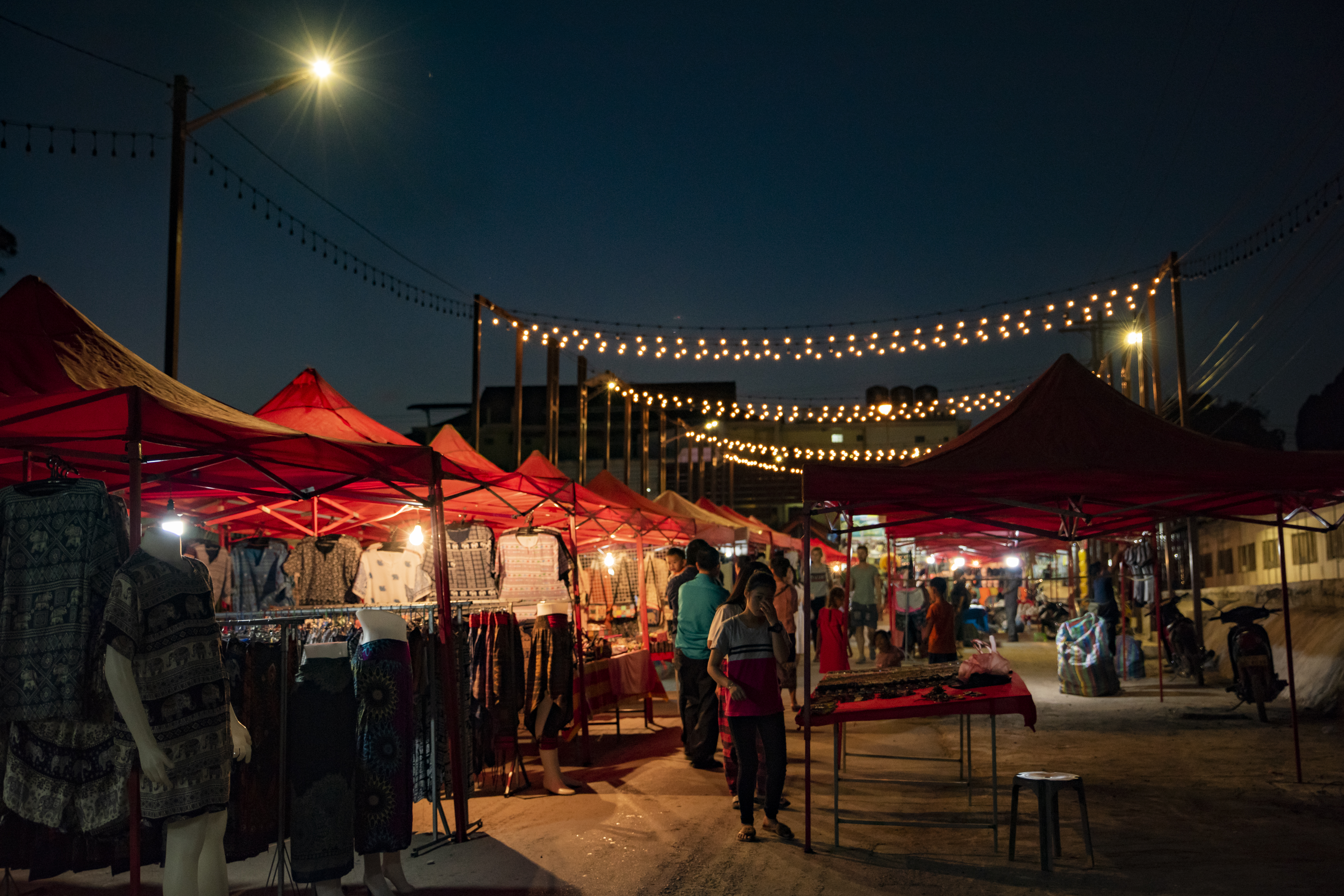 Night street - Vang Vieng, laos